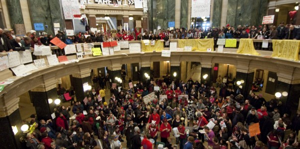 Wisconsin Teachers protest