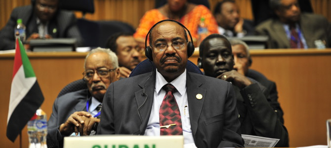 Omar Hassan Ahmad al-Bashir, the president of Sudan, listens to a speech during the opening of the 20th session of The New Partnership for Africa's Development in Addis Ababa, Ethiopia, Jan. 31, 2009. The partnership's primary objective is to eradicate poverty in Africa and bring long-term and sustainable political, economic, and social change to the continent. (U.S. Navy photo by Mass Communication Specialist 2nd Class Jesse B. Awalt/Released)