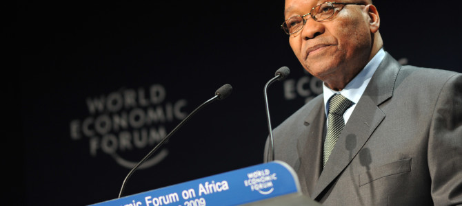 CAPE TOWN/SOUTH AFRICA, 10JUN2009 - Jacob Zuma, President of South Africa, at the Opening Plenary on Africa and the New Global Economy held During the World Economic Forum on Africa 2009 in Cape Town, South Africa, June 10, 2009  Copyright World Economic Forum www.weforum.org / Eric Miller emiller@iafrica.com